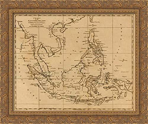 East India Islands, 1812 24x20 Gold Ornate Wood Framed Canvas Art by Arrowsmith, Aaron