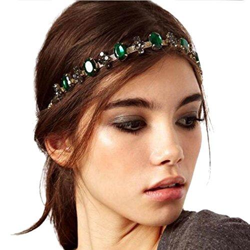LittleB Baroque headbands jewelry Rhinestone&alloy hair chain for Women and ()