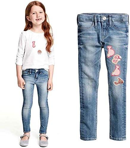 Pour jeans Lot de 26 patchs /à repasser en forme de lettres de lalphabet A-Z en forme danimaux vestes et sacs /à dos 4cm rose
