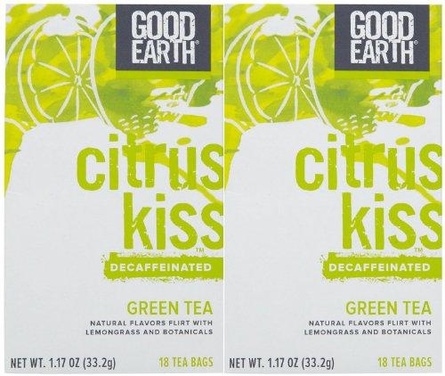 Good Earth Decaffeinated Lemongrass Flavor