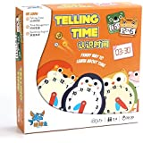 Gameland Telling Time Children's Board Game Help Kids to Tell Time in Analog Clock - Time Activity Set