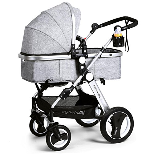 Infant Toddler Baby Stroller Carriage - Cynebaby Compact Pram Strollers add Tray - Baby Compact