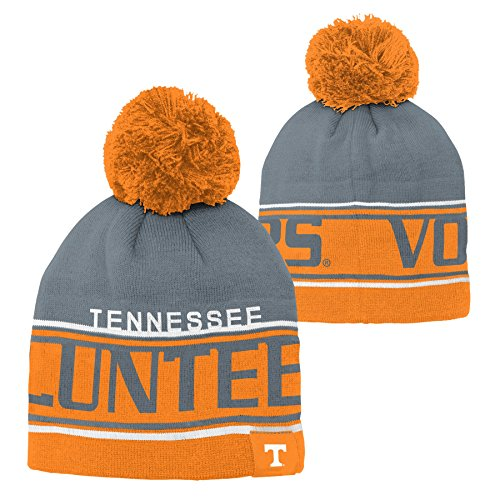 NCAA by Outerstuff NCAA Tennessee Volunteers Youth Boys Jacquard Cuffless Hat w/ Pom, Light Orange, Youth One Size -