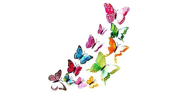 Amazon.com: SAQIMA - Pegatina magnética de mariposa, doble ...