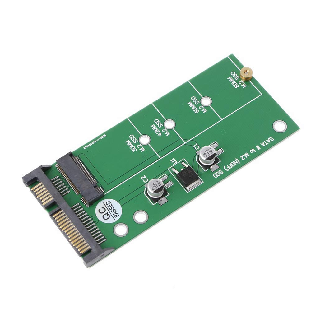 TOOGOO Ngff (M2) Ssd to 2.5 inch Sata Adapter M.2 Ngff Ssd to Sata3 Convert Card for 30/42/60/80Mm M.2 Ssd Hard Drive