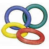 Children Sponge Rubber Quoits Hoop Rings Set Of 8