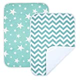 gss gear - PEKITAS 2 Pack Waterproof Diaper Changing Pads Travel Friendly Super Soft Fabric Size 19.5 X 27.5 inches (Medium,0-1 Year),Green Series