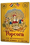 Tin Sign XXL Nostalgic Fun Popcorn woman children