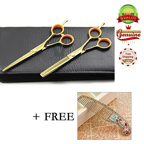 Brendacosmetic TONI&GUY Professional Barber Scissors Hair Scissors Shears ,Hairdressing tool Hair Thinning &Regular scissors Set with Free Comb for Cutting (Calgary Online Shopping)