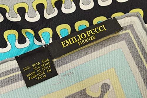 (エミリオプッチ)ポケットチーフ メンズ プッチ柄シルクポケットチーフ(サイズ32×32cm)eep19w148 グレー
