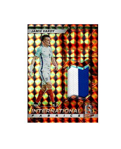Jamie Vardy England Panini Spectra 07/10 International Fabrics Worn-Material Jersey Trading Card IF-JVA Exclusive Collectible ()