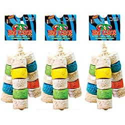 "BIRD KABOB Wesco Shreddable Bird Toy - Chiquito 4.5"" Long x 11"" High - Pack of 3"