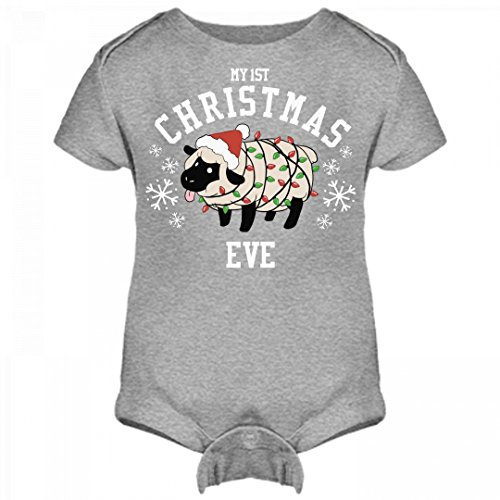 Cute 1st Christmas Outfit For Eve: Infant Rabbit Skins Lap Shoulder Creeper
