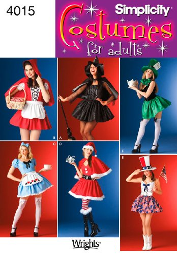 Simplicity Sewing Pattern 4015 Misses Costumes, NN (10-12-14-16) -