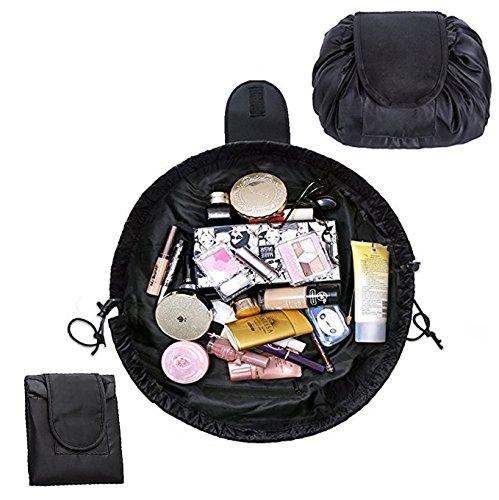 baeaf0290e6 Lemoncy Lazy Portable Makeup Bag Waterproof Drawstring Cosmetic Bag Makeup  Storage Organizer Large Capacity Travel Makeup Pouch Perfect for Women    Girls ...