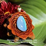 Australian Blue Opal Third Eye Pinecone Pendant