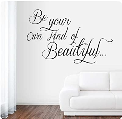 """36"""" Be Your Own Kind Of Beautiful Wall Decal Sticker Art Mural Home Décor Quote"""