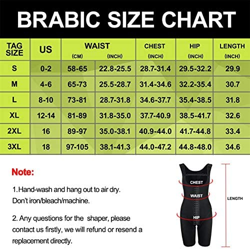 BRABIC Women's Waist Trainer Bodysuit Butt Lifter Tummy Control Shapewear Hi-Waist Thigh Slimmer Full Body Shaper Open Bust
