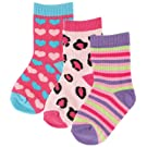 3-Pack Fashion Socks, Girl Patterns, 0-6 months