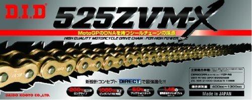 ∽カット済み DIDシールチェーン525ZVM-X-116L《ゴールド》カシメジョイント/TRIUMPH (675cc) DAYTONA675【年式07-08】   B007BDLLT8