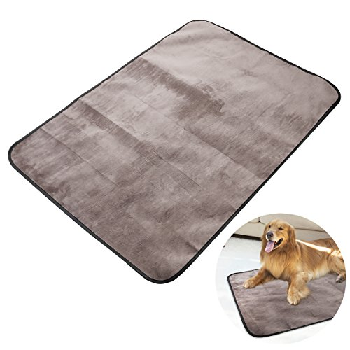 UEETEK Pet Dog Blanket, Waterproof Pet Mat for Dog Cat Indoor Outdoor Lawn Use, with Shoulder Bag, 100cm x 70cm (Mat Puppy)