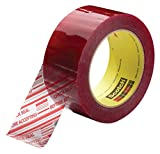 3M Scotch Security Message Box Sealing Tape 3779, 72 mm x 100 m, Clear (Pack of  24)