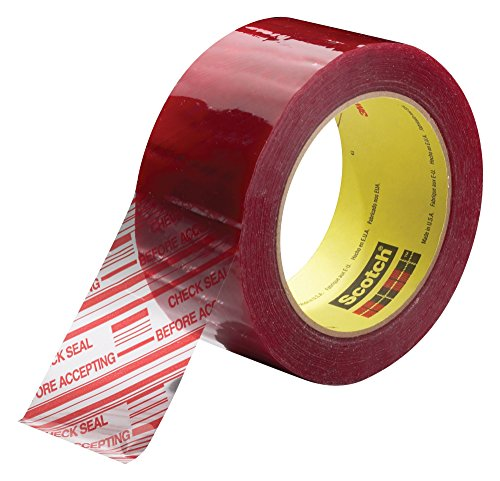 3M Scotch Security Message Box Sealing Tape 3779, 72 mm x 100 m, Clear (Pack of  24) by 3M