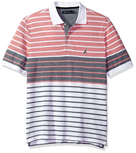 Pique Golf Oxford Shirt - Nautica Men's Short Sleeve Colorblock Cotton Oxford Pique Polo Shirt, True Navy X-Large