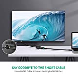 UGREEN HDMI Cable Extension Male to Female HDMI Extender Cord 4K Compatible for TV Stick, Roku Stick, Chromecast, Nintendo Switch Wii U, Xbox One 360, PS4 PS3, Blu Ray Player, HDTV Laptop PC (1.5FT)