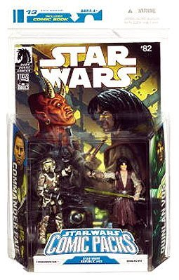 STAR WARS Comic Packs Republic  82  Comhommeder Faie and Quinlan Vos Action Figures