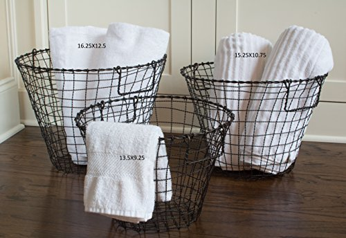 (Rustic Iron Wire Basket 16.25