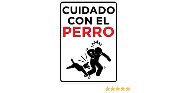 Oedim Señal Cuidado con el Perro   Tamaño A4 (21,00x29,70cm)   Decoración Pared   Aluminio 3 mm Resistente: Amazon.es: Hogar