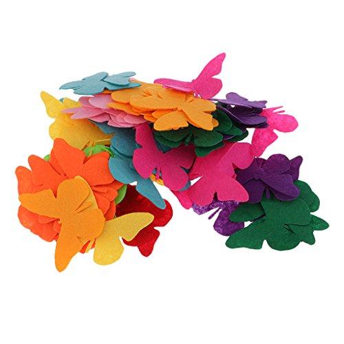 Homyl 100 Piece Butterfly Shape Non-woven Felt for Scrapbooking Kid Craft Cardmaking #2