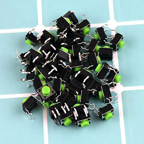 10PCS 665mm green touch switch 4 foot micro button 6x6x5 miniature electromagnetic oven accessories panel key switch