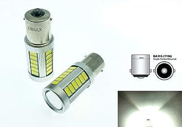 Unipower DINAX(TM) 2 X Bombilla LED BA15S 1156 P21W CANBUS 33 Leds SMD
