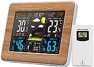 Romacci Cor Estação meteorológica interna/externa Temperatura sem fio Umidade Barômetro Termômetro Higrômetro