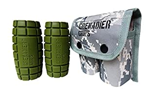 Grenadier Grips - Unique Fat Bar Dumbell/Barbell Grips For Huge Size Gains, Explosive Power, Increased Grip Strength, Arm Muscle Builder, Crossfit, Improve Climbing and Grappling