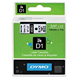 DYMO 45803 D1 High-Performance Polyester Removable Label Tape, 3/4'' x 23 ft, Black on White
