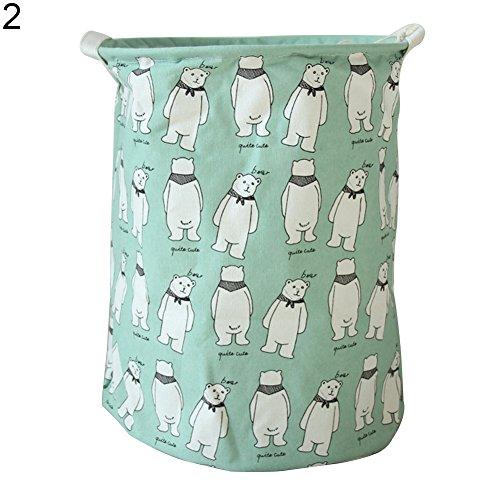 bjlongyi Stylish Rabbit Alpaca Pattern Cotton Linen Desk Toy Storage Box Laundry Basket - 2 by bjlongyi