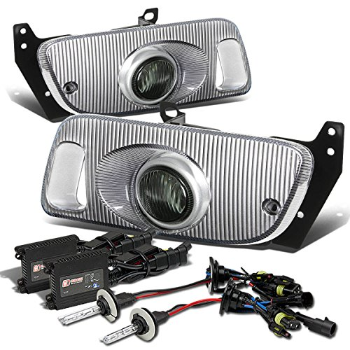 Honda Civic 2/3DR Bumper Fog Light+Switch+10,000K HID+Slim Ballast (Smoke Lens) - 5th Generation EJ1/2 EG3 EH2/3 D15 D16