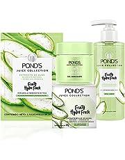 POND'S Cuidado Facial Hydra Fresh Aloe Mascarilla 26g + Gel hidratante 110g + Limpiador Facial 200ml