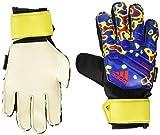 adidas Predatorator Junior Top Training Fingersaver Goalkeeper Glove Football Blue/Bold Blue/Solar Yellow, 7