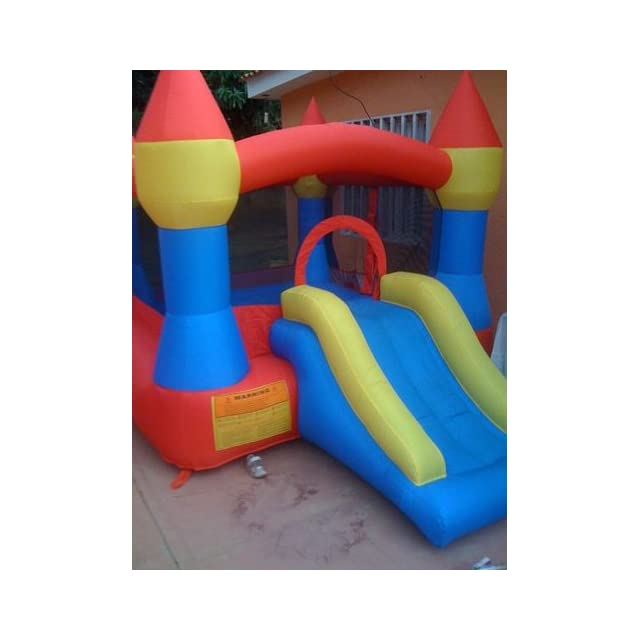 Castle Inflatable Bounce House w/ Slide (12 x 9) Blower Included
