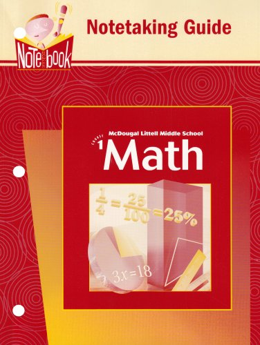 Download McDougal Littell Middle School Math: Notetaking Guide Course 1 pdf