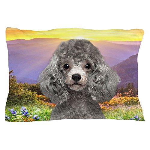 CafePress - Poodle Meadow Pillow Case - Standard Size Pillow Case, 20