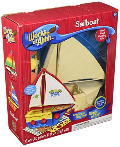 MasterPieces Works of Ahhh Sailboat Large Wood Paint Kit