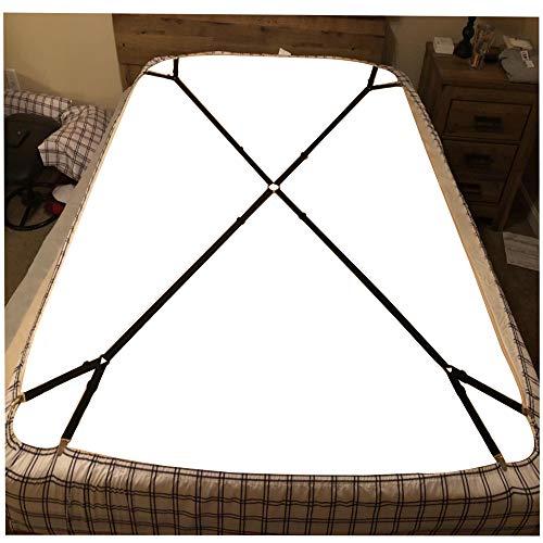 BBDOU Bed Sheet Clips Straps, Criss-Cross Adjustable Bed Fitted Sheet Straps Suspender Mattress Covers Gripper Holder Fastener