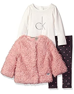 Baby Girls' 3 Piece Faux Fur Jacket Set