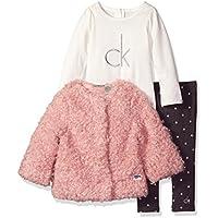 Baby Girls' 3 Piece Faux Fur Jacket Set