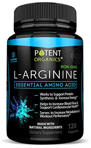 Cheap L-Arginine Essential Amino Acid 120 Vegetarian Capsules – For Muscle, Heart and Energy!